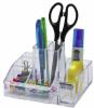 Suport plastic pentru accesorii de birou, 8 compartimente, 148 x 87mm,