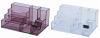Suport plastic pentru accesorii de birou, 7 compartimente, kejea -