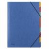 Separatoare carton color cu elastic pe colturi, a4, 500g/mp, 9