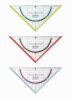 Echer/raportor16 cm cu grip 3 combinatii de culori my