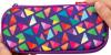 Penar cu fermoar, zip..it colorz box - triunghiuri violet
