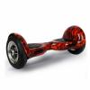 Hoverboard cu roti de 10 inch - design flacara neagra