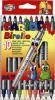 Markere carioca birello, varfuri 2 si 4 mm, 10