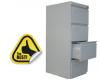 Clasificator metalic cu 4 sertare 450x610x1365 mm (lxlxh), eco+