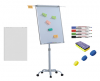 + accesorii: hartie flipchart, markere, burete,