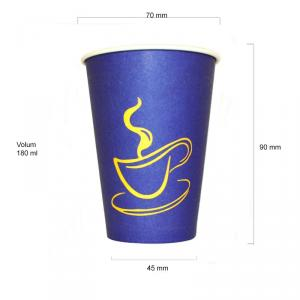 Blue 7oz pahare automate carton 180 ml bax 2250 buc