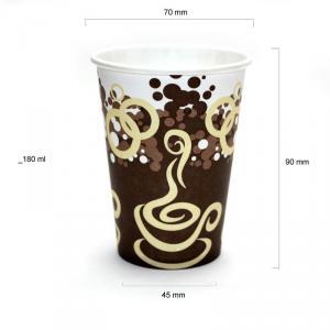 Vanilla pahare automate carton 180 ml bax 2250 buc