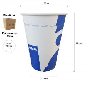 Lavazza pahare automate carton 180 ml producator Siba bax 2250 buc
