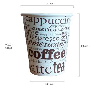 Cappuccino pahare automate carton 180 ml bax 1000 buc