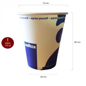 Lavazza pahare carton 170 ml BAX 2500 buc