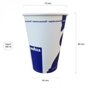 Lavazza pahare carton 180 ml BAX 2500 buc