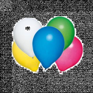 Baloane rotunde, calitate helium, biodegradabile, culori asortate, set 50 bucati HERLITZ