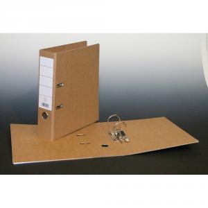 Biblioraft din carton reciclat A4, 80 mm, maro AURORA