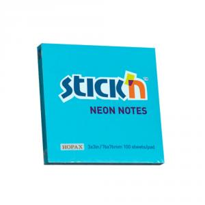 Notes autoadeziv 76 x 76 mm, 100 file, Stick'n