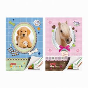 Carte de colorat A4, 28 file, model Pretty Pets, HERLITZ