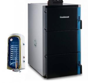 Pachet centrala termica lemne gazeificare Buderus S171 -40KW plus boiler termoelectric Tesy140 lt -pachet standard