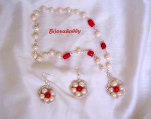 Set perle si coral