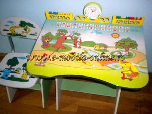Birou si scaun copii reglabil
