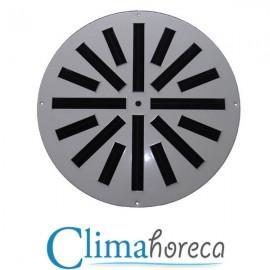 Grila aluminiu anodizat cu jet turbionar diametru 300 mm pentru sisteme de ventilatie si climatizare destinata Horeca