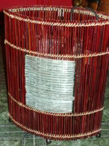 Veioza din bambus