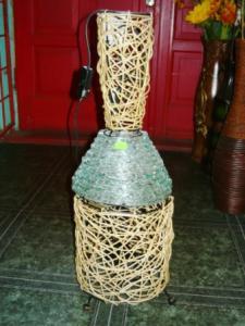 Veioza bambus sticla