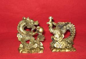 Dragonul cu perla si pasarea Phoenix (din rasina) - 1