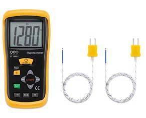 Termometru profesional Tip K cu 2 valoari masurate tip FT 1300-2