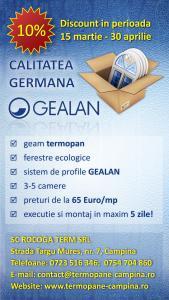Tamplarie pvc profile gealan