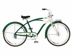 FELT BICICLETA CRUISER HERITAGE, 7SP, BRITISH GREEN/CREAM