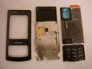 Nokia 6500s Housing Without Chassis  With Complete Main Keypad Swap (Nokia 6500s 4 Piese Negre Originale)