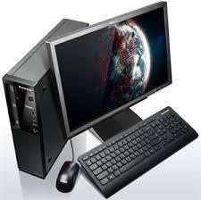 Sistem second Lenovo Thinkcentre M57 SFF, Intel Core 2 Duo E6550 2.33 GHz/1GB DDR2/80 GB HDD/DVD+monitor 17''TFT+LIC WIN 7 PRO