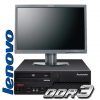 Sistem second hand Lenovo ThinkCentre Core2DUO 3.0 Ghz / 4 Gb DDR3 / 320 HDD cu monitor 19''TFT Dell