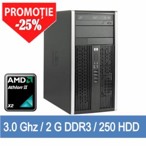 Calculator Second Hand Tower HP 6005 Pro AMD Athlon IIx2 B24 3000MHz, 2GB DDR3, 250GB HDD, DVDRW