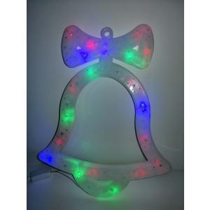 Clopotel decoratiune Craciun LED