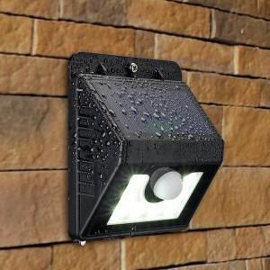 Lampa solara cu senzor de miscare exterior 4 leduri