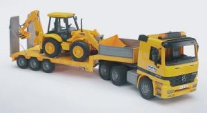 Platforma mercedes benz + excavator