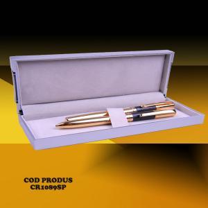 Set instrumente scris cadou corporate, placate cu aur