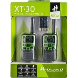 Statie radio PMR portabila Midland XT30 cu acumulatori