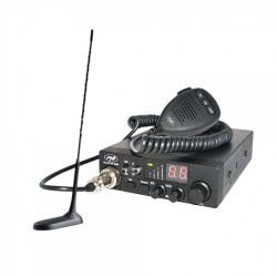 Kit Statie radio CB PNI ESCORT HP 8000 ASQ + Antena CB PNI Extra 45 cu magnet