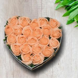 Cutie Inima mare cu Trandafiri din Sapun