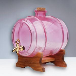 Butoi din sticla roz cu robinet - 1 litru