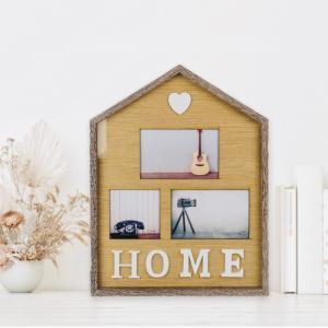 Rama foto de perete Home personalizata cu 3 poze