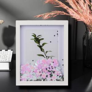 Rama foto Flower Glitter personalizata cu o fotografie