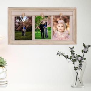 Rama foto de perete personalizata cu 3 fotografii