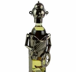Suport pentru sticla de vin metalic