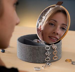 Cutie bijuterii cu organizator si oglinda