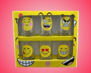 Set 6 pahare pentru shot-uri Emoji