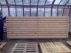 Stalpi lemn pentru garduri