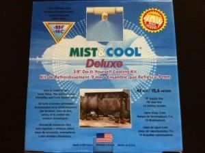 Perdea de racire cu ceata Mist & Cool pentru racorire terase prin pulverizarea apei