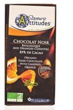 Ciocolata bio neagra cu portocale confiate IGS